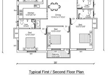 1ST & 2ND FLOOR - TYPICAL PLAN